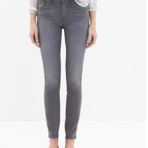 Madewell Grey High Riser Skinny Jeans